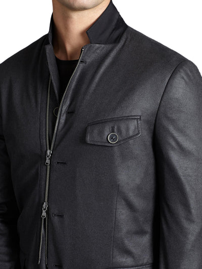 John Varvatos 5 Button Soft Jacket with Front Zip JVSO631B-AWTTT