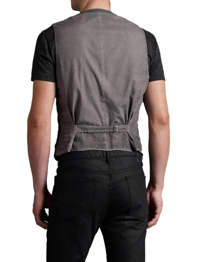 John Varvatos Zipper Pocket Vest in Shark JVV053B AUFC