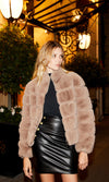 Generation Love Faux Fur Bomber Taupe F19310