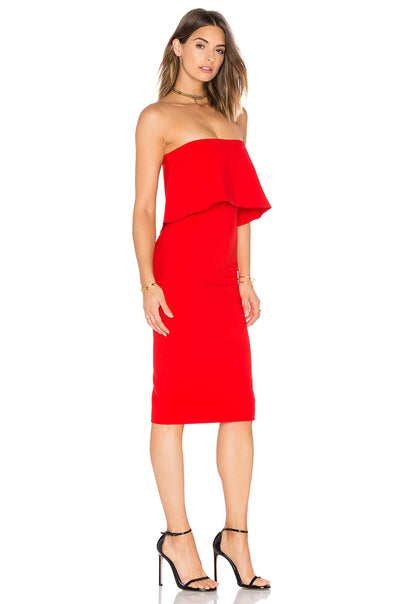 LIKELY Driggs Dress in Scarlet YD110001Y