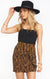 Show Me Your MUMU Why Knot Skirt Taupe Tiger MF0-4431