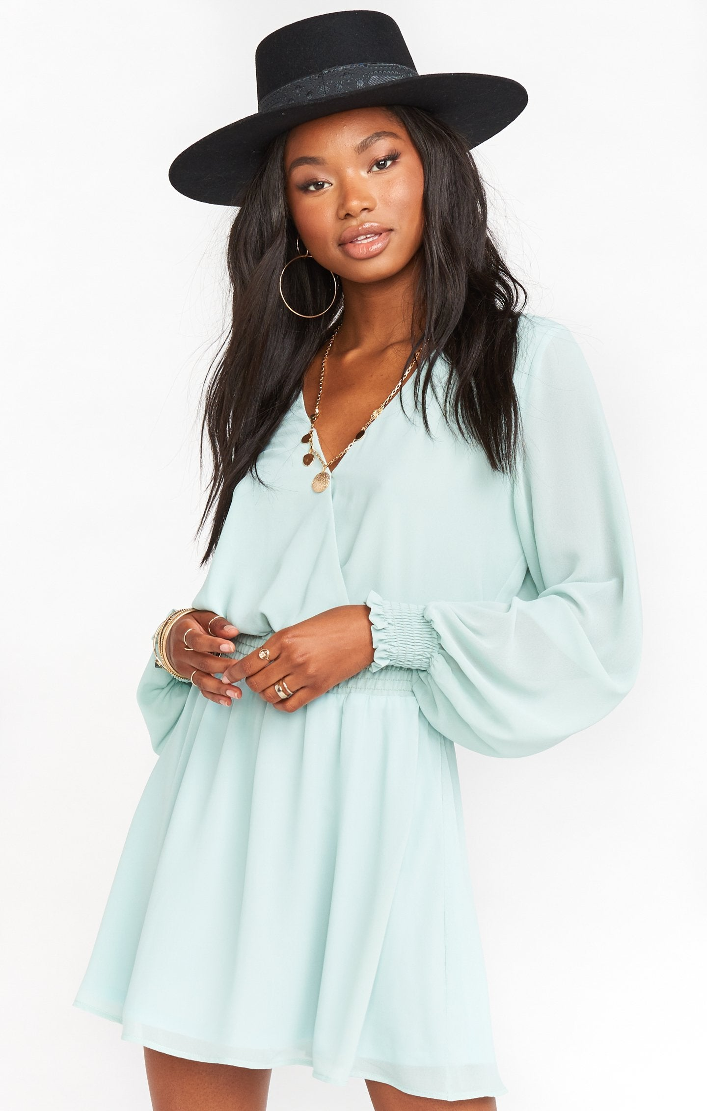 Show Me Your MUMU ADelaide Dress- Soft Stream MS0-4168
