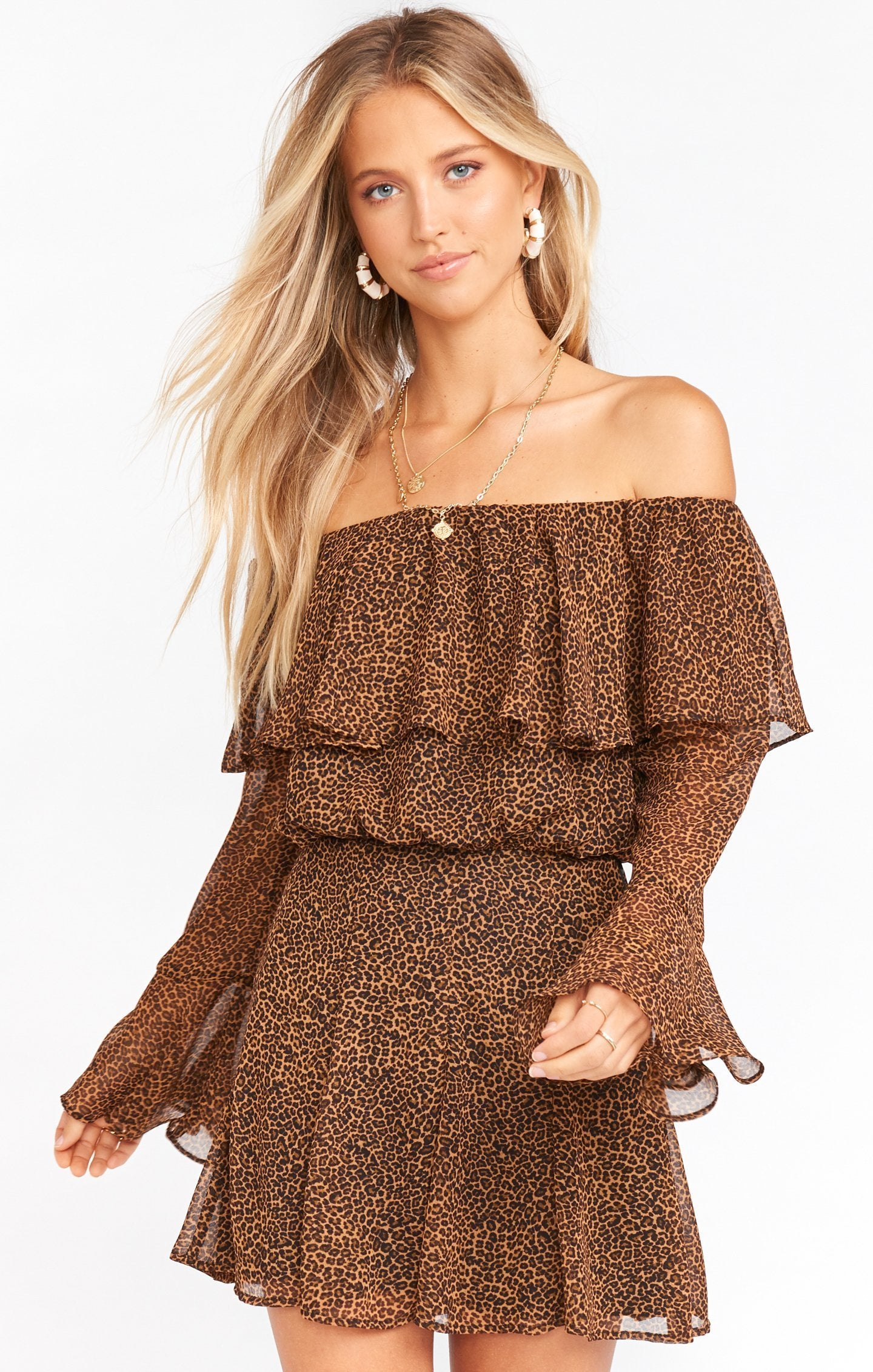 Show Me Your MUMU Skater Mini Skirt- Lucky Leopard MS0-4223