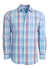 Mizzen + Main Madison Blue/Red Madras Button Down Shirt L-6004