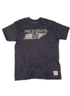Retro Brand Memphis Tigers State Tee in Heathered Navy Blue