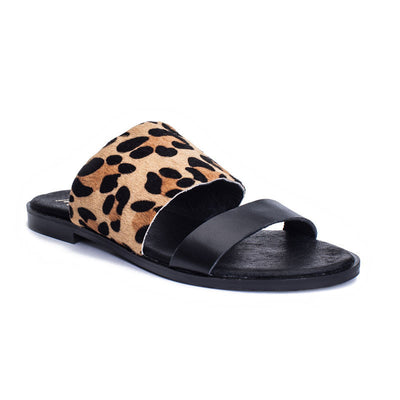 Matisse Minnie Two-Toned Slide Sandal in Leopard MINCHLEO