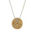 Tat2 Siena Gold Hammered Circle Necklace 26261 N327-GLD/VS-MC