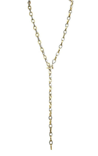 "Tat2 Gold + VS Rinku Link Necklace / 40"" N526-GLD+VS/BD"