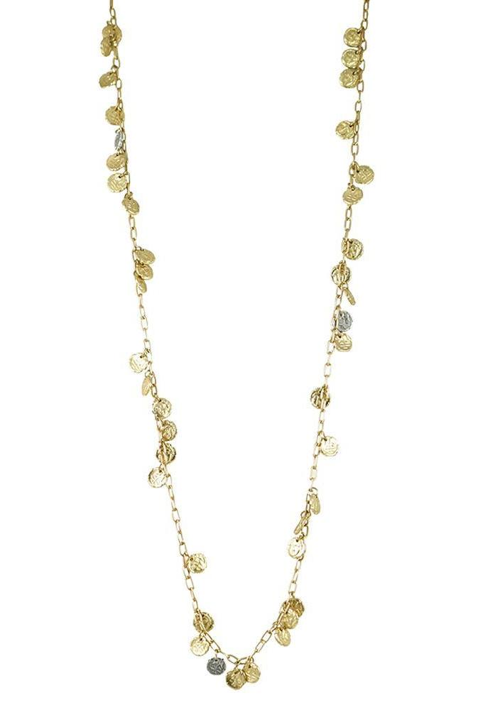 Tat2 Gold Apollonia Multi Coin Necklace N553-GLD/VS