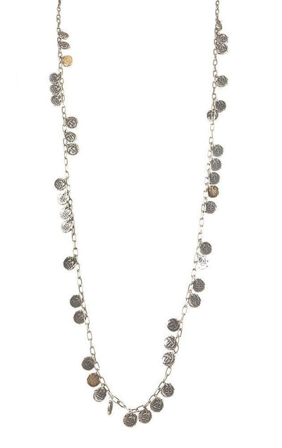 Tat2 VS Apollonia Multi Coin Necklace N553-VS/G