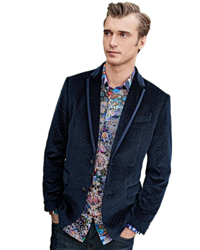 Robert Graham Arran Sport Coat in Navy RF155023CF