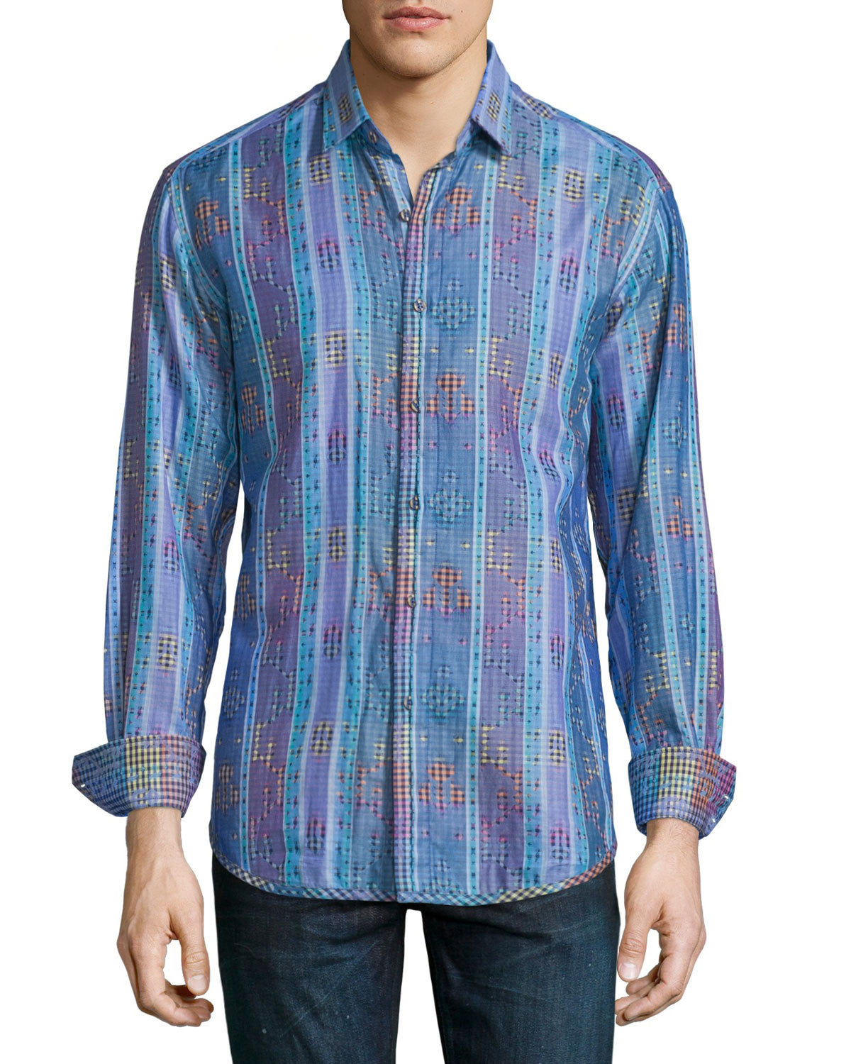 Robert Graham Cultivated Sport Shirt in Blue RS161818CF