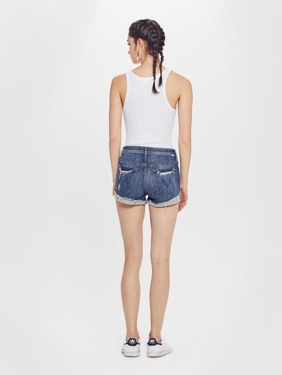 Mother High Waisted Rascal Slit Flip Chew Short 4312-383