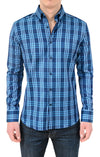 Stone Rose Button Down Shirt Blue/Navy PSP5204