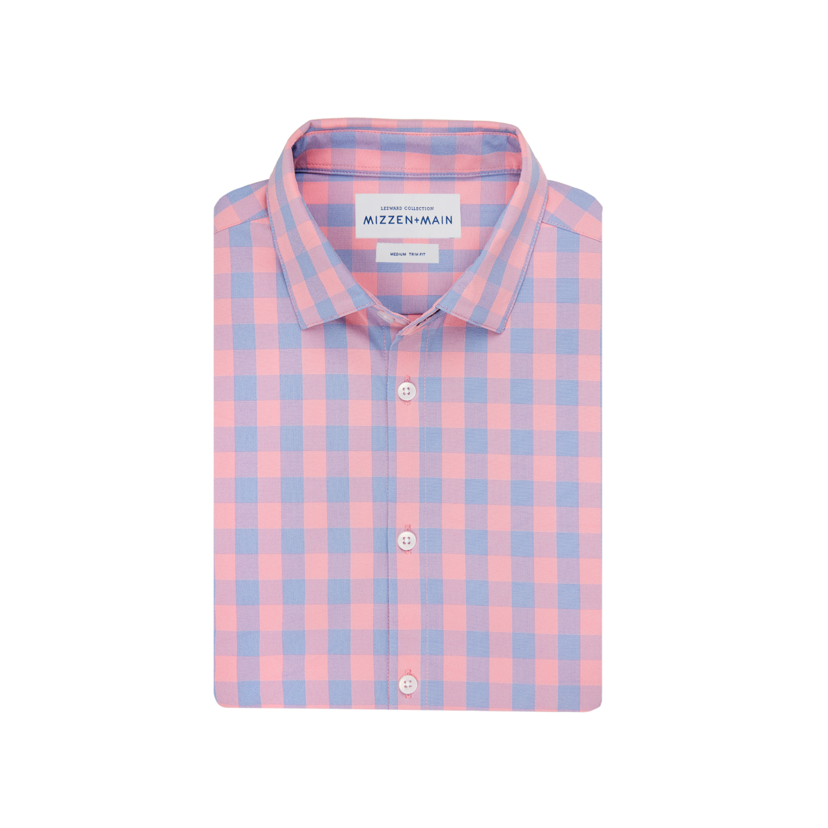 Mizzen+Main Parsons Pink Check Button Down L-9030