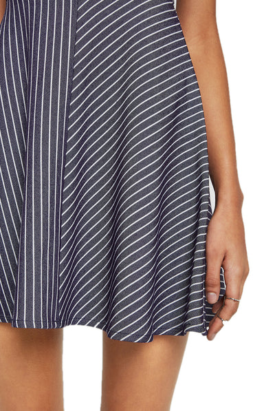 BCBGeneration Striped Twill Flare Dress QII66K52