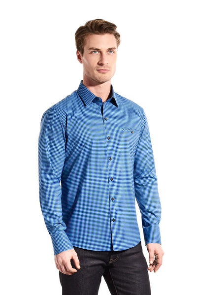 Zachary Prell Tolcado L/S Button Down in Royal R17S010PL