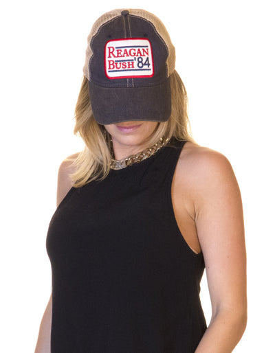 Reagan / Bush '84 Navy Trucker Hat