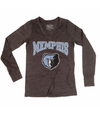 Memphis Grizzlies Women's Long Sleeve Tri-Blend V-Neck Tee