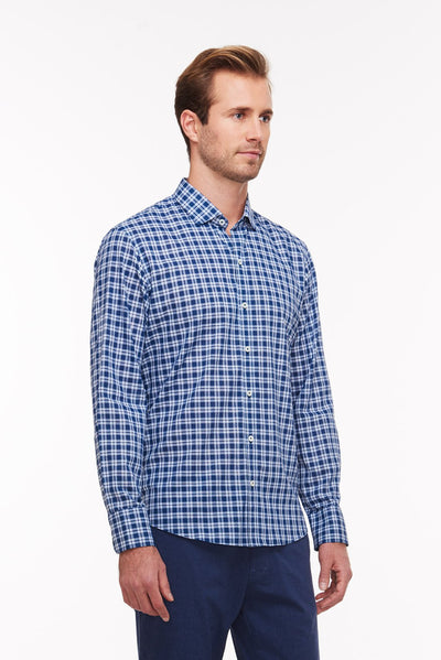 Zachary Prell Speer L/S Button Down in indigo S18S009ML