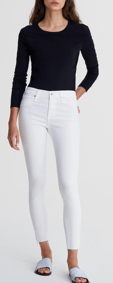 AG Jeans The Farrah Skinny Ankle in White SSW1777RH