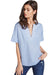 BCBGeneration Boxy Embroidered Chambray Top SZZ1Y021
