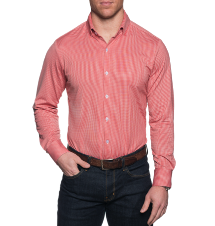 "Mizzen+Main ""Hawthorne"" Red Gingham Button Down Shirt 