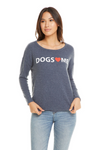 Chaser Brand Dogs Heart Me Sweatshirt CW7396-DOG005