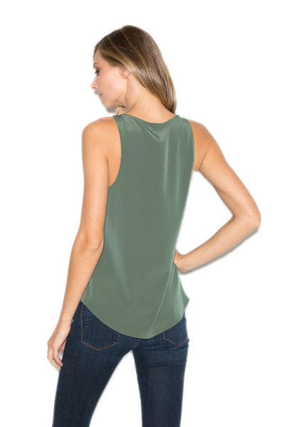 Rory Beca Rine Tank in Olive T2792540