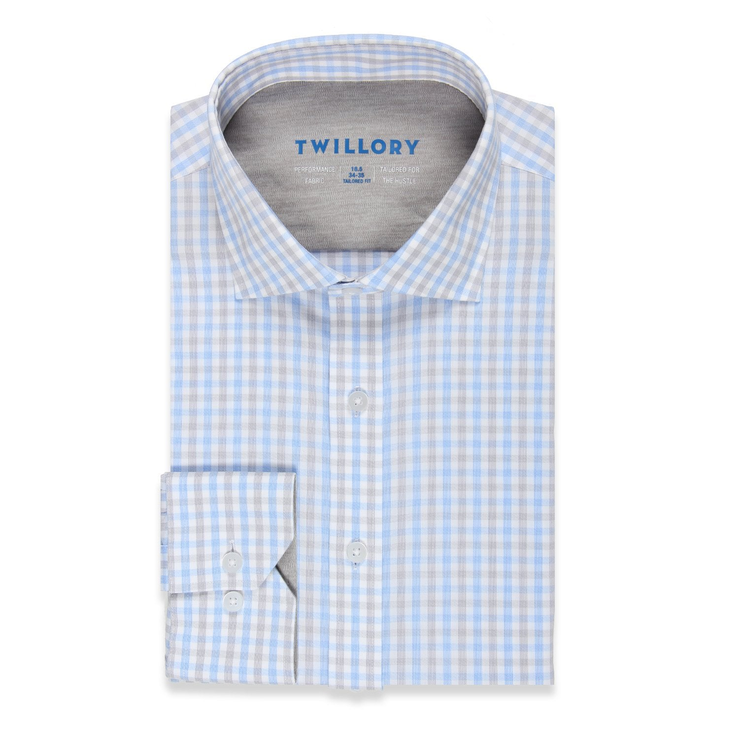 Twillory Investor Performance Tattersall Tailored Button Down