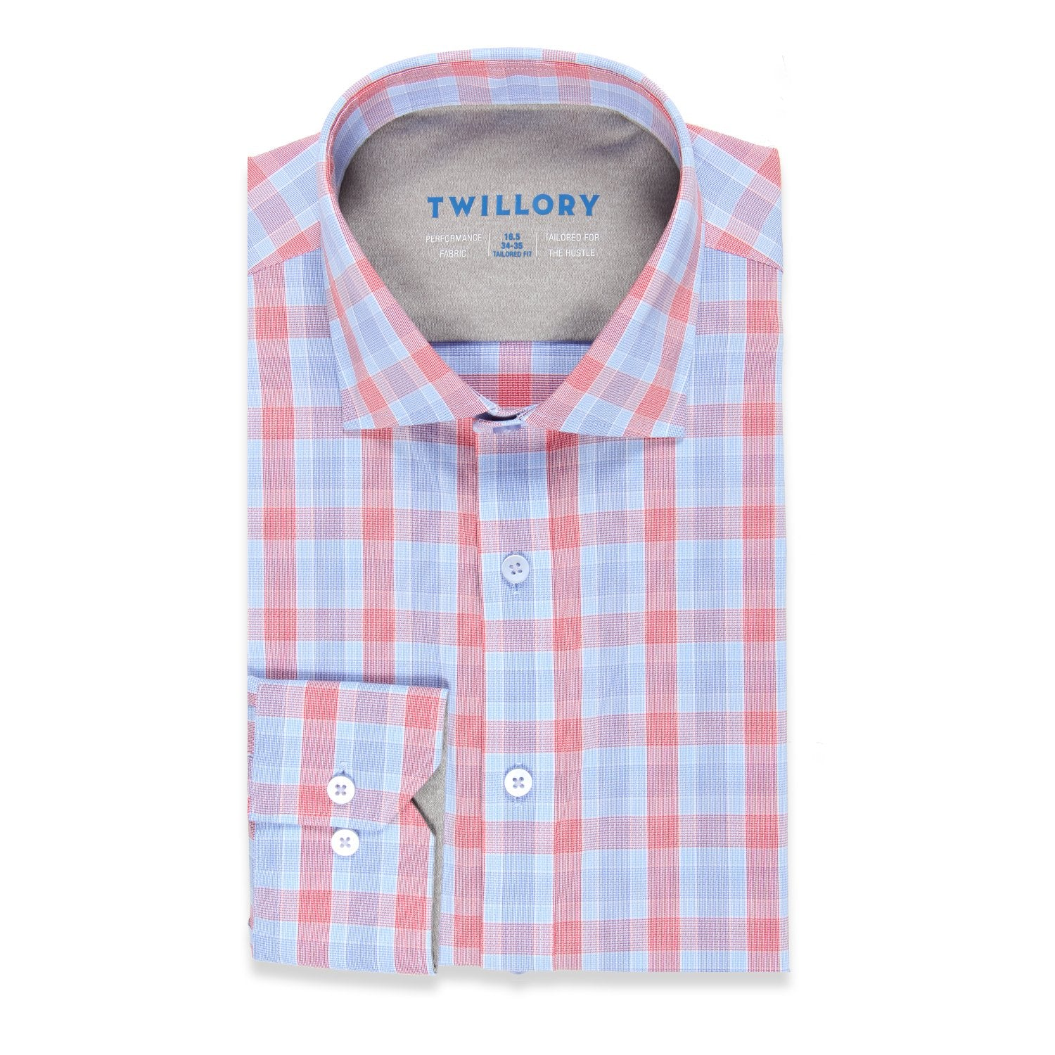 Twillory Creator Performance Plaid Tailored Button Down