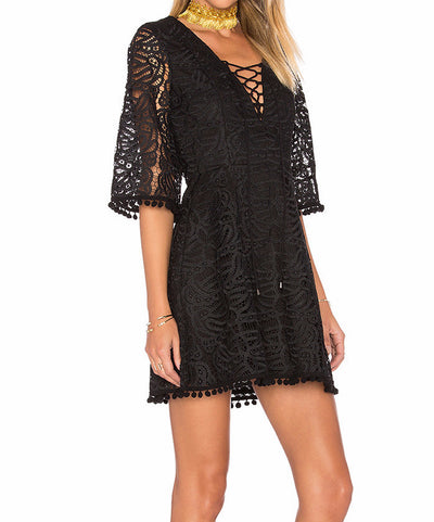 Tularosa Coal Lace Dress in Onyx TR16D271