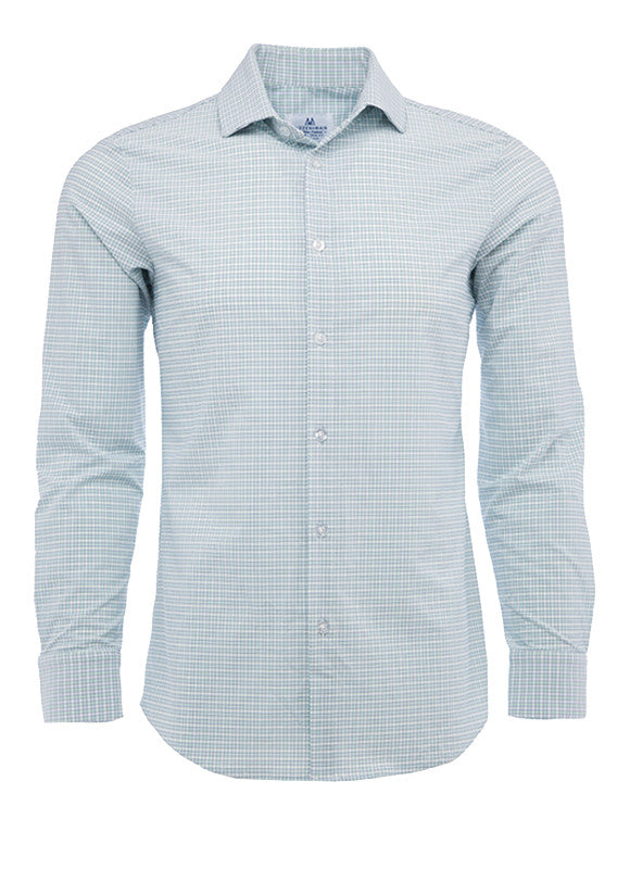 Mizzen + Main Thames Illusion Blue/Dusty Aqua/Poseidon Ginham Shirt L-5008
