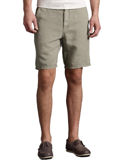 John Varvatos Triple Needle Linen Shorts S131R1B-AIFB