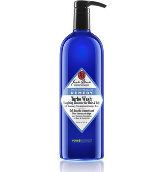 Jack Black Turbo Wash® Energizing Cleanser for Hair & Body With Rosemary, Eucalyptus & Juniper Berry 33 oz