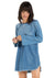 Bella Dahl Raglan Sleeve Dress in Star Gazer Wash B6017-549-778