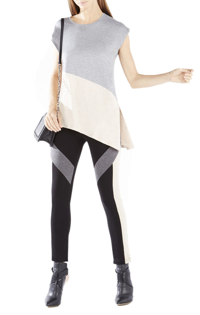 BCBGMAXAZRIA Kourtni Color-Blocked Asymmetrical Top WCJ1U871