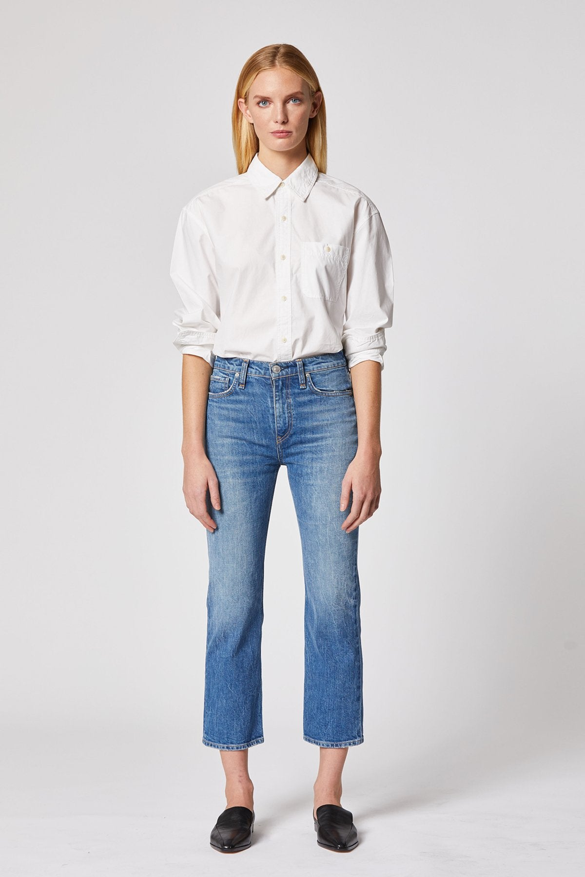 Hudson Remi High-Rise Straight Cropped Jean WHC2089DPP