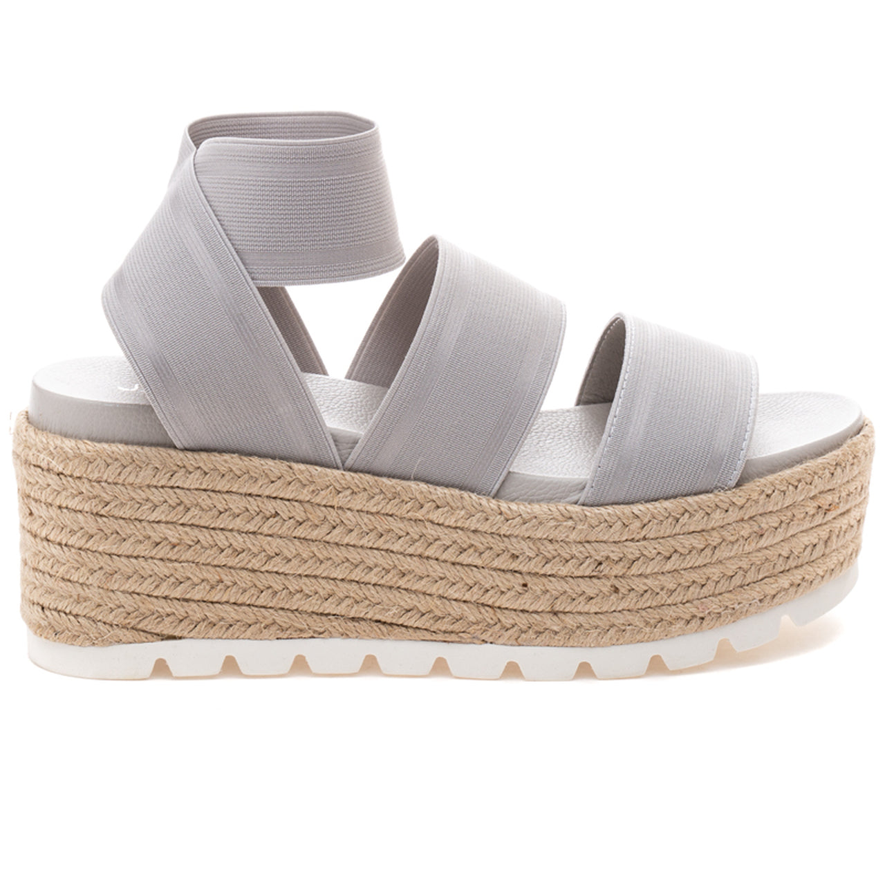 J/Slides Shoes Grey Elastic  QUARTZ