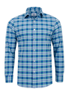 Mizzen+Main Augusta Blue/Green Plaid Button Down Shirt L-5002