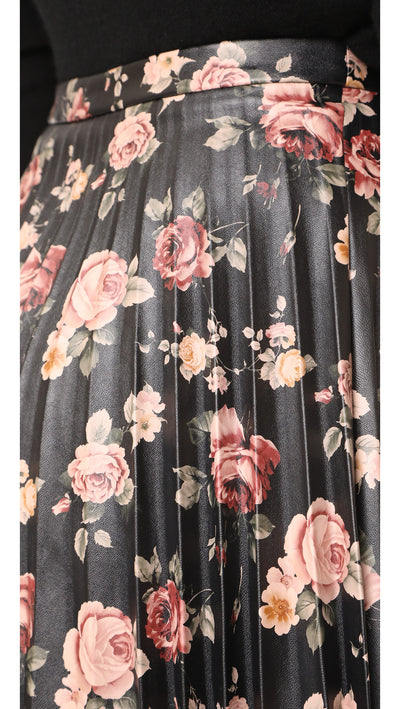 BB Dakota Abela Floral Skirt in Dark Brown BH309226