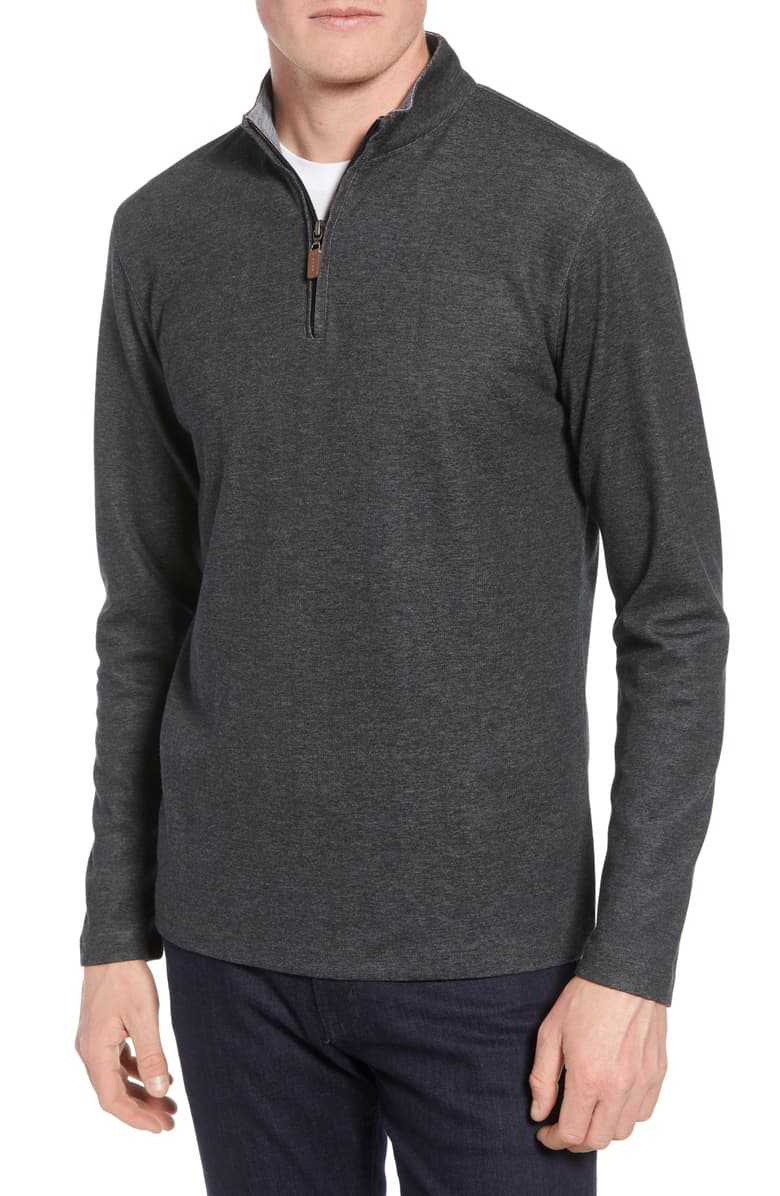 Mizzen + Main Wooster Quarter Zip Sweater PO-7021