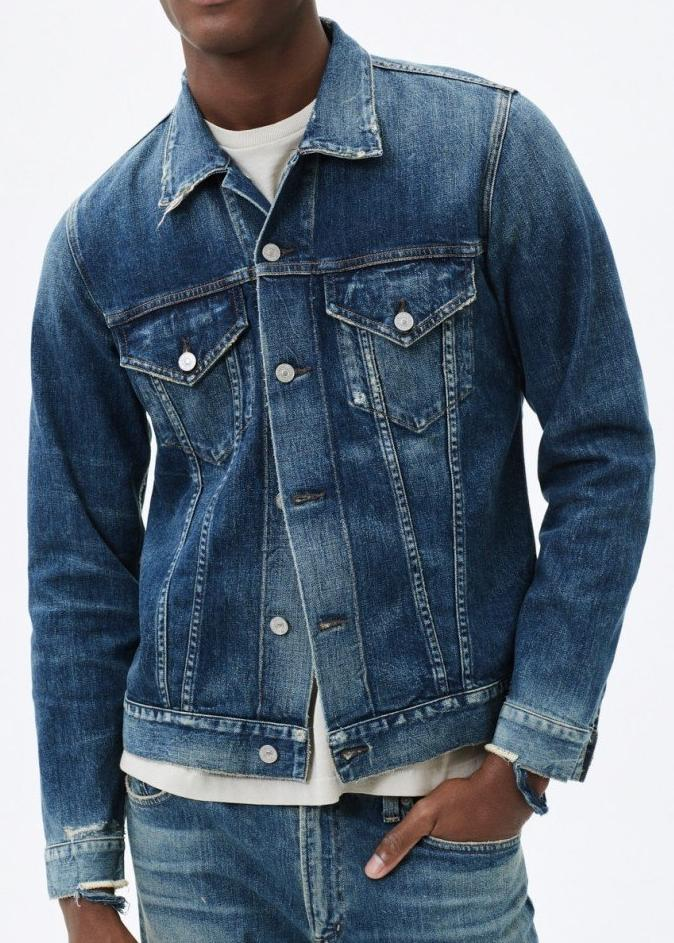 Citizens of Humanity Classic Denim Jacket in Wilkes Wash M503-365