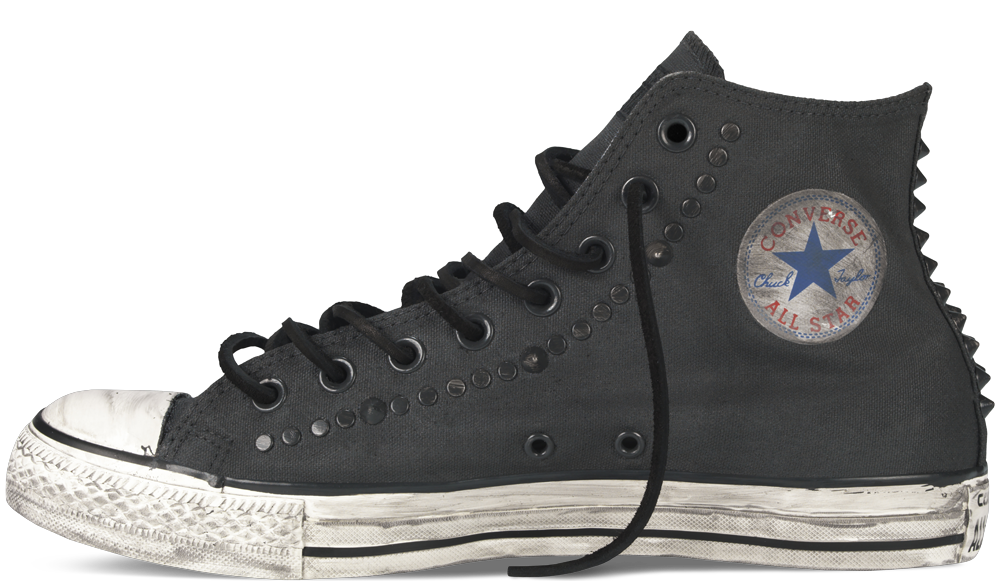 190fda9daf78 Converse by John Varvatos Painted Hardware Chuck Taylor All-Star Hi Top  Canvas in Black