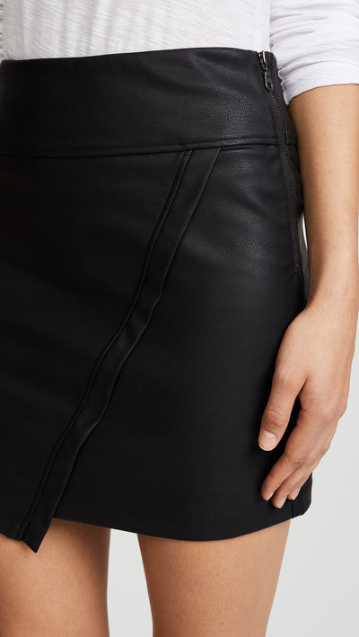 David Lerner Asymetrical Wrap Skirt in Black DAK0122VE