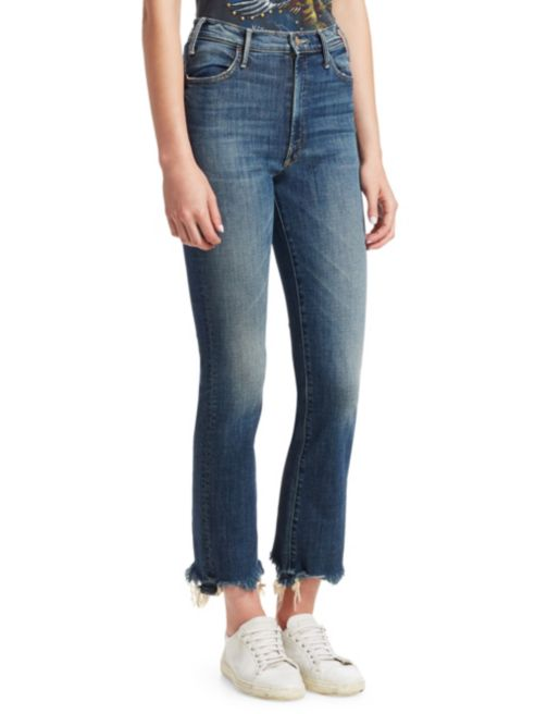Mother The Looker Ankle Step Fray Jeans in Can't Leave it Alone 1791-617