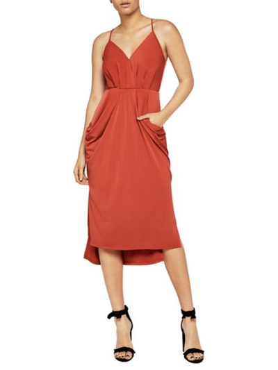 BCBGeneration Faux Wrap Midi Dress PZO69E63