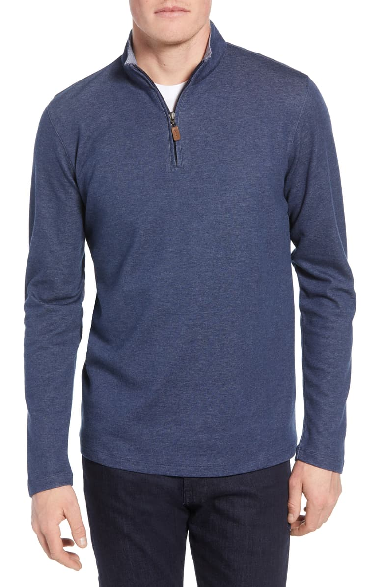 Mizzen + Main Stanton Quarter zip Sweater PO-7020
