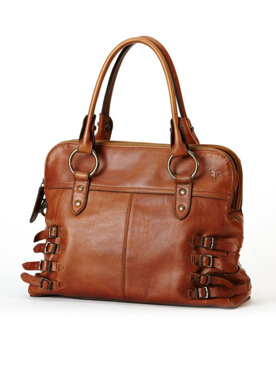 Frye Selena Belted Zip Satchel in Whiskey 34DB278-WHS