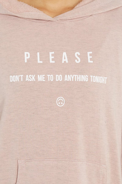 good hYOUman The Taylor - Please Don't Ask Me To Do Anything Tonight Hoodie 127253P